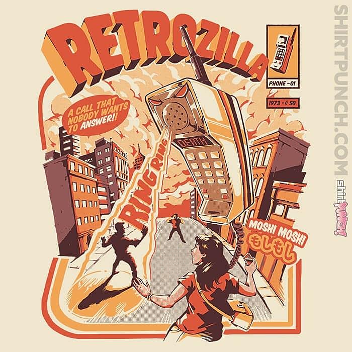 ShirtPunch: Retro Phonezilla