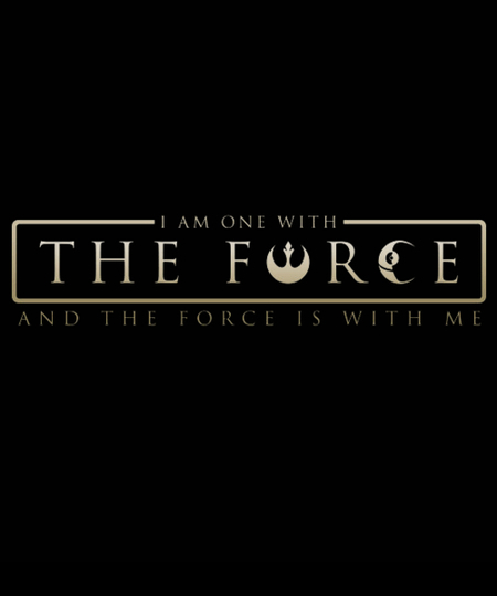 Qwertee: One With The Force