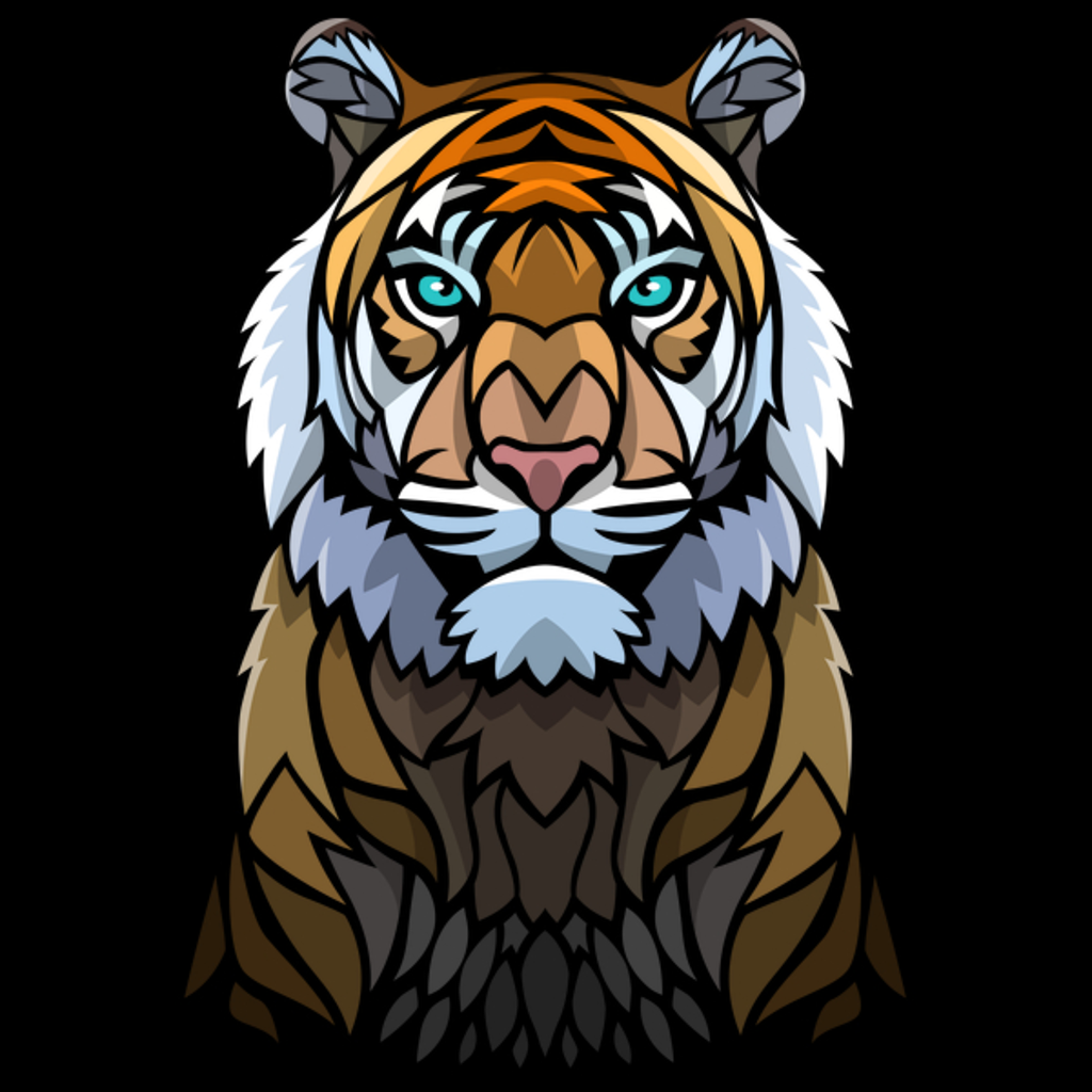 NeatoShop: Frontal tribal tiger