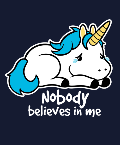 Qwertee: Sad unicorn