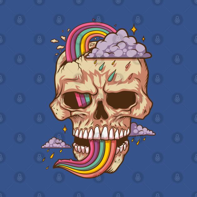 TeePublic: Skull Raindow