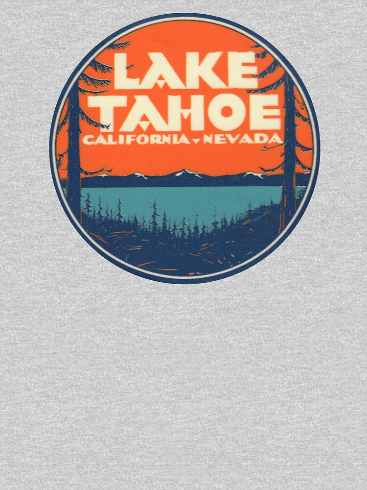 RedBubble: Lake Tahoe California Nevada Vintage State Travel Decal