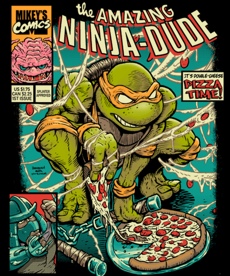 Qwertee: Amazing Ninja Dude Design