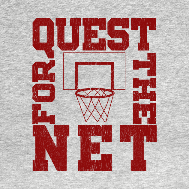 TeePublic: Quest For The Net Basketball Design