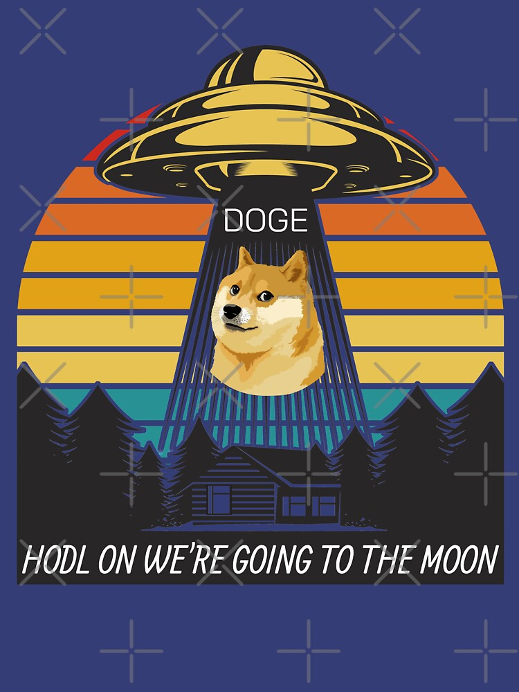 RedBubble: Dogecoin DOGE HODL on we're going to the moon