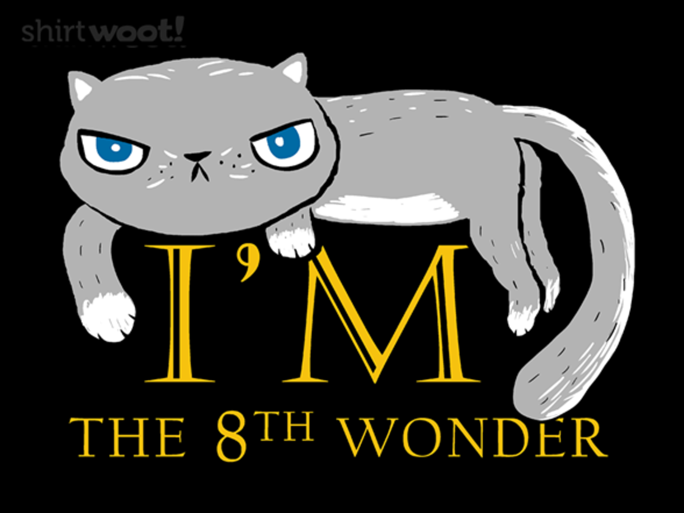 Woot!: A Modest Cat - $15.00 + Free shipping