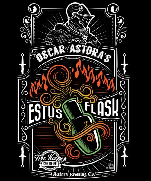 Qwertee: Sir Oscar of Astora's Estus Flask