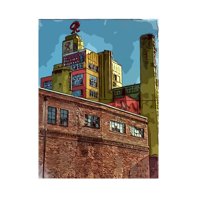 TeePublic: Rainier Beer building in Seattle Washington USa