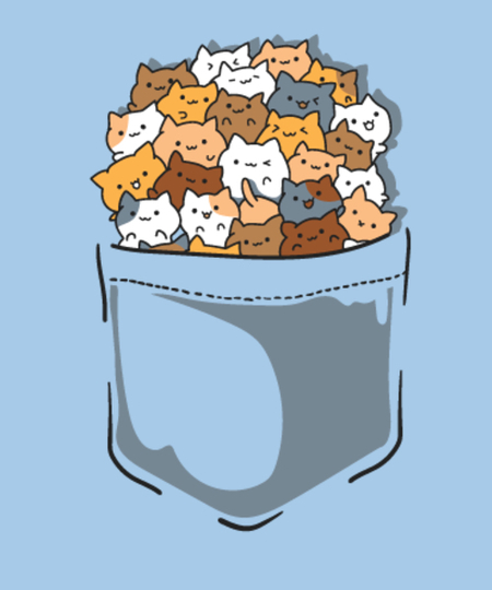 Qwertee: pocket full of cats