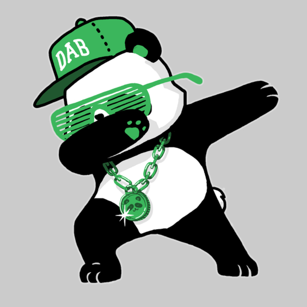 NeatoShop: Dabbing Panda Funny Shirt Dab Hip Hop Green