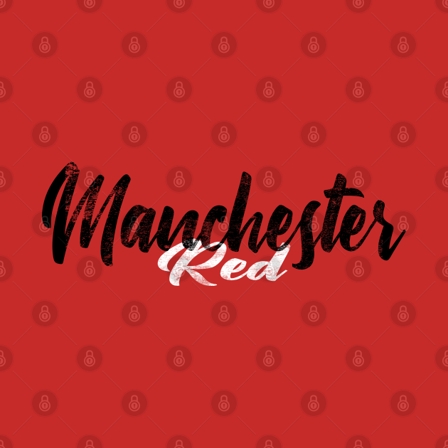 TeePublic: Manchester Red