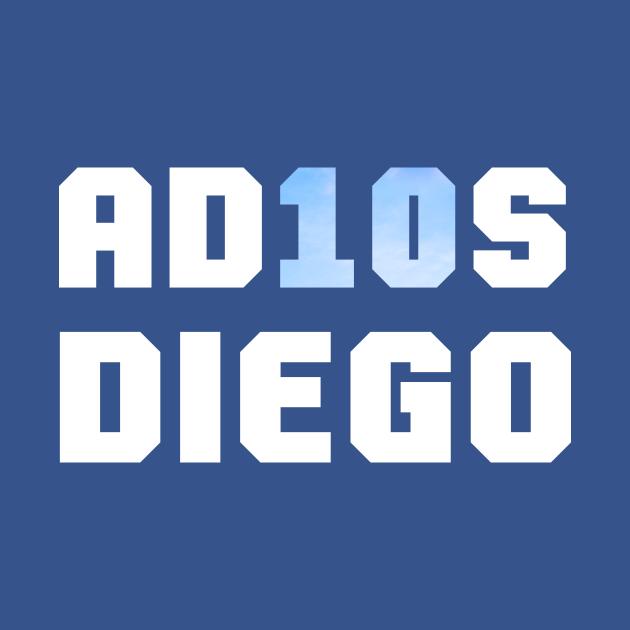 TeePublic: Adios Diego Maradona