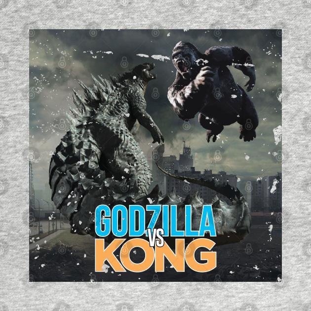 TeePublic: Godzilla vs King Kong Grunge
