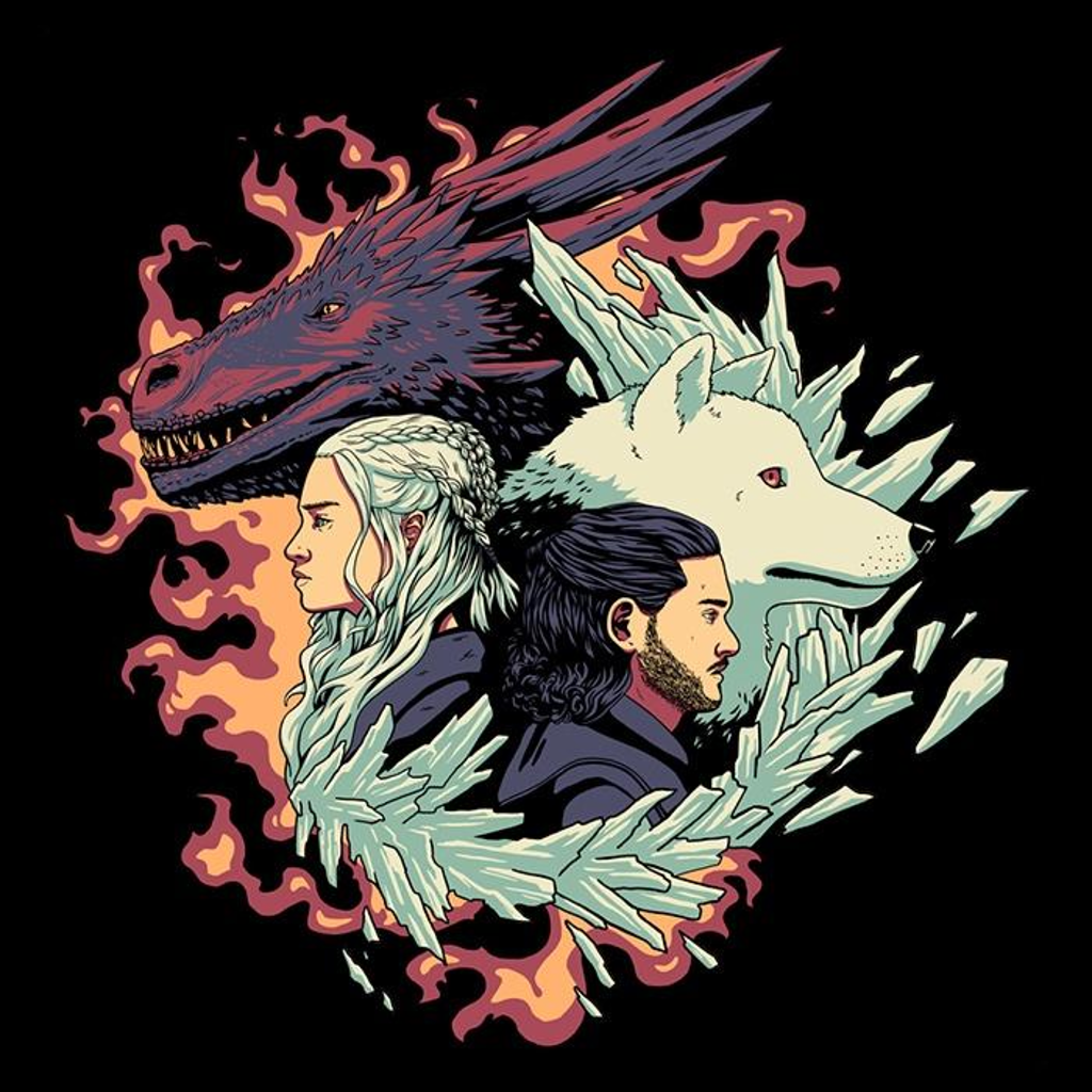 Once Upon a Tee: Dragons and Wolves