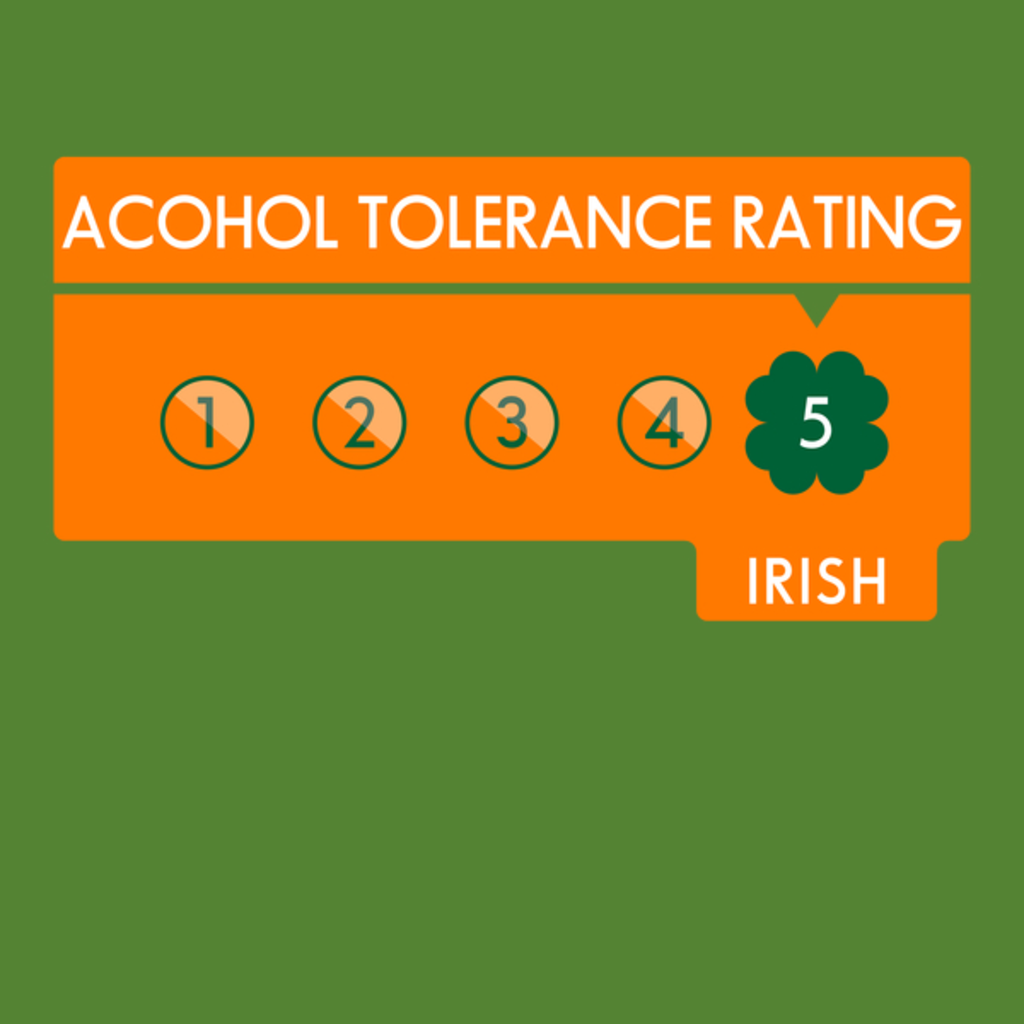 NeatoShop: Alcohol Tolerance Level: Irish!