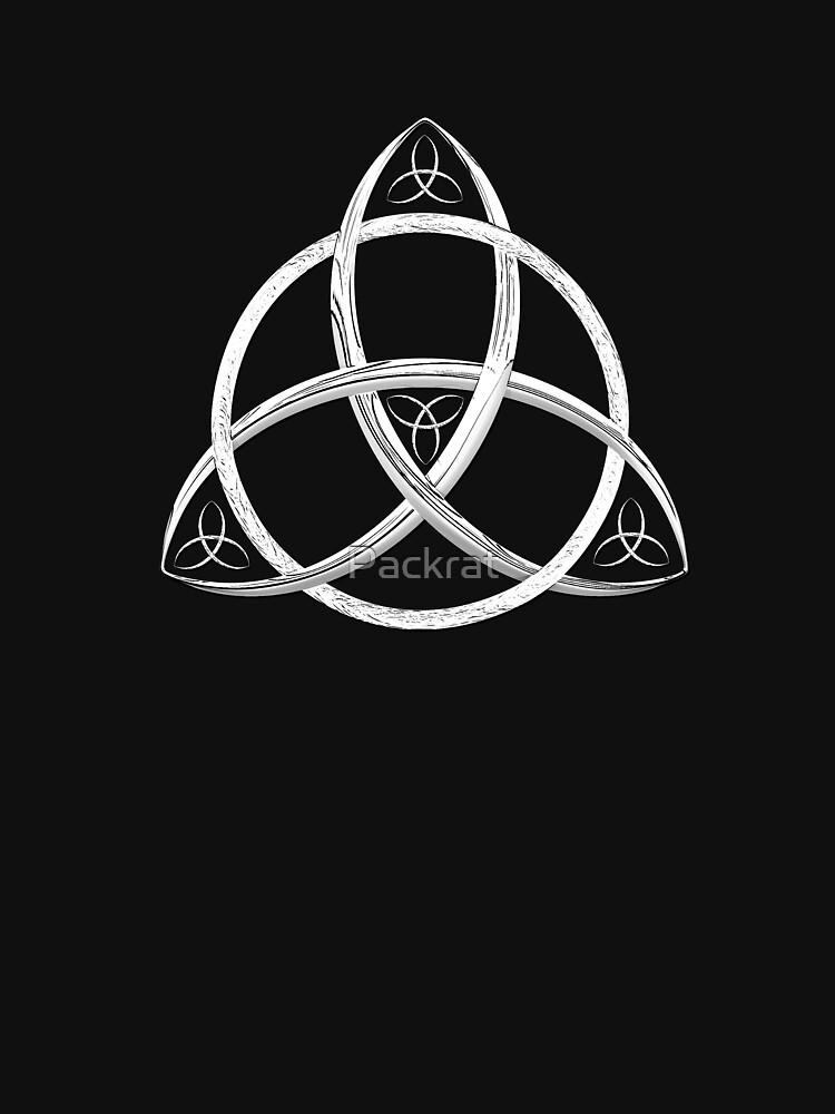 RedBubble: White Trinity Celtic Knot
