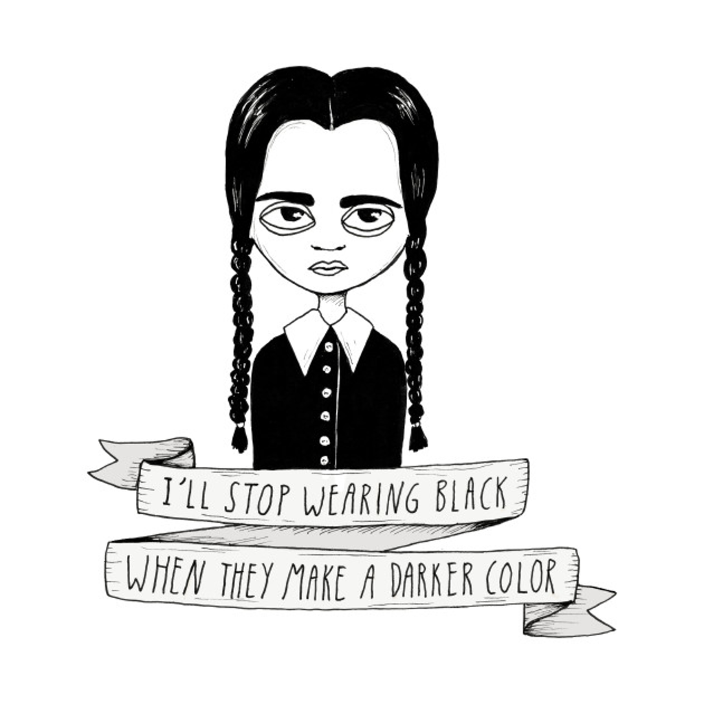 TeePublic: Wednesday Addams