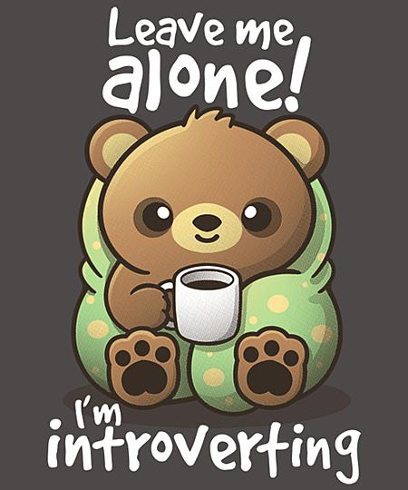 Qwertee: Introvert bear