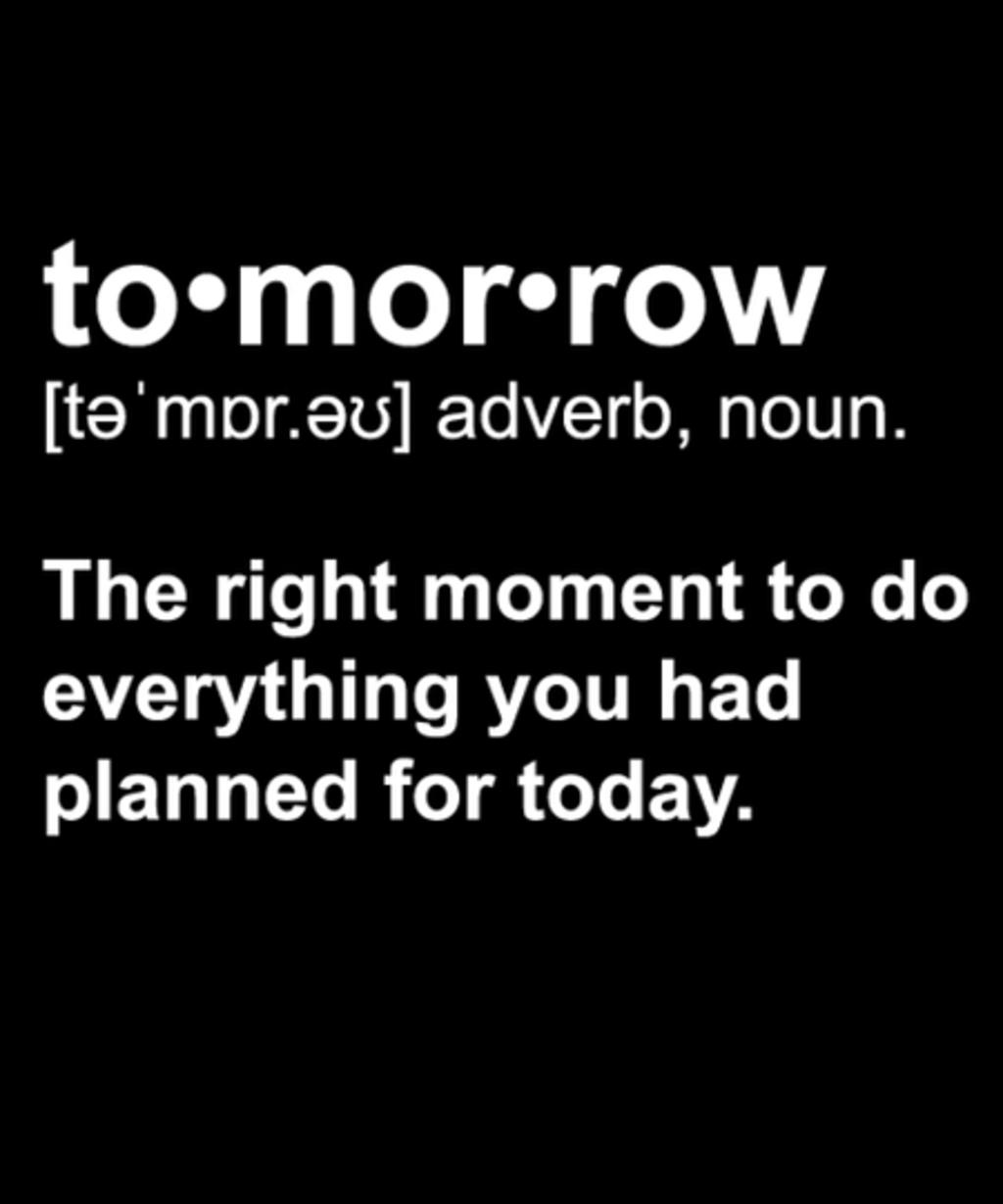 Qwertee: Tomorrow Definition