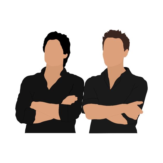 TeePublic: Stefan and Damon salvatore