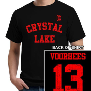 Five Finger Tees: Crystal Lake Voorhees Jersey T-Shirt