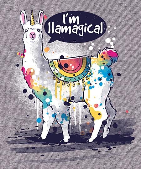 Qwertee: llamagical llama