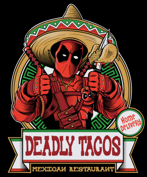 Qwertee: DEADLY TACOS