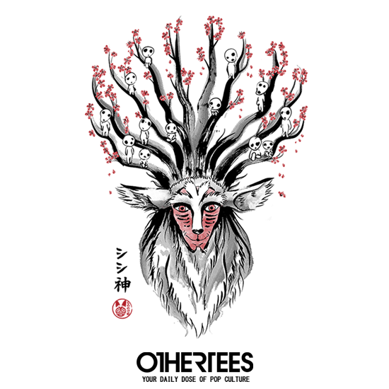 OtherTees: The Deer God sumi-e