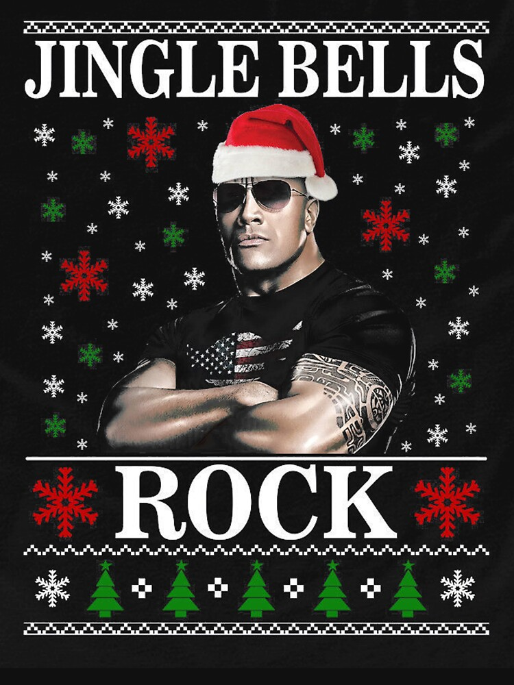 RedBubble: say dwayne johnson christmas