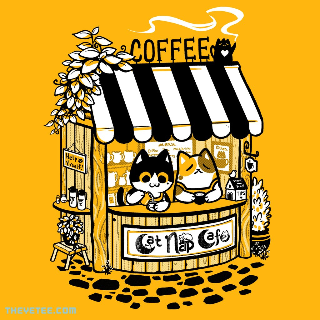 The Yetee: Cat Nap Cafe