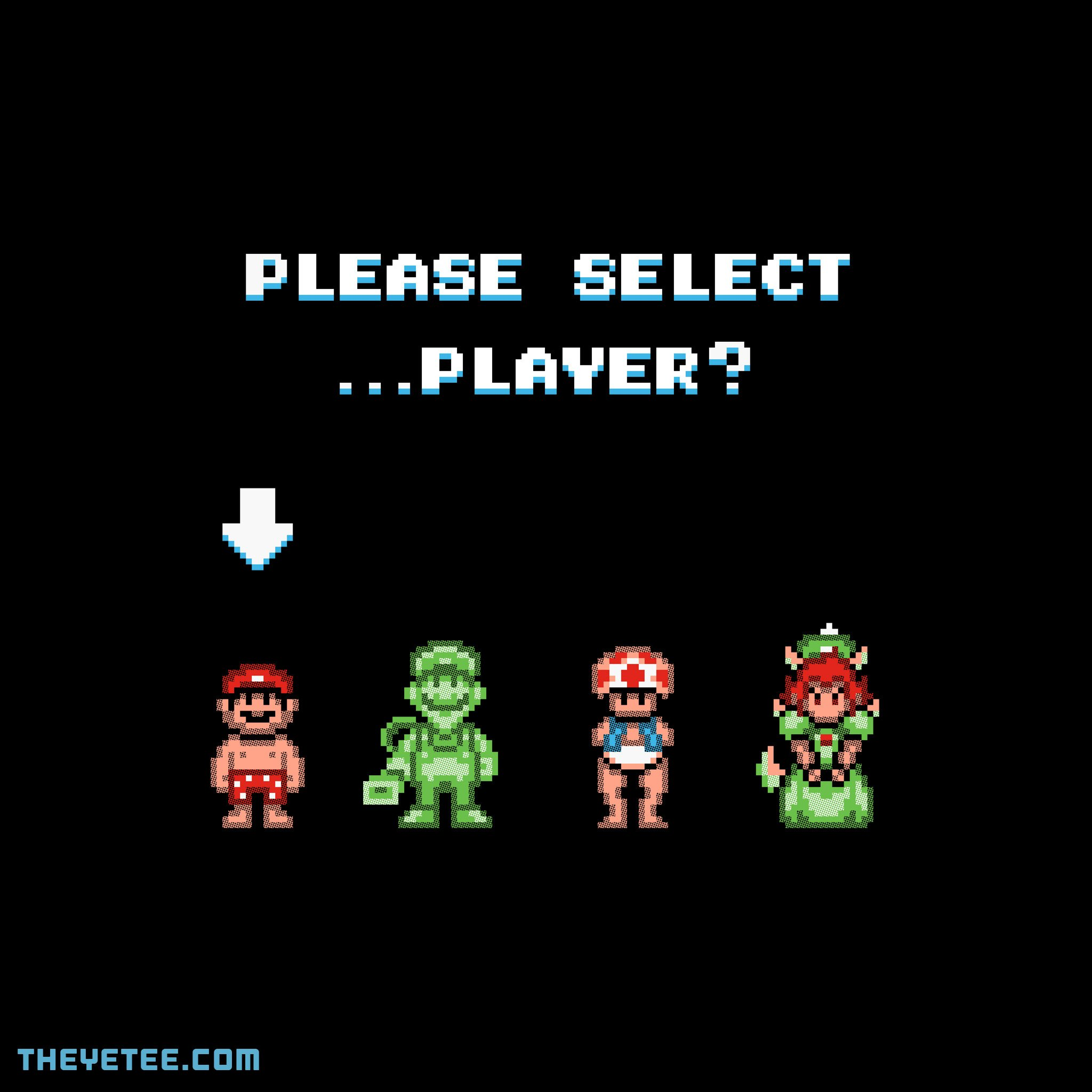 The Yetee: PLEASE SELECT ...PLAYER?