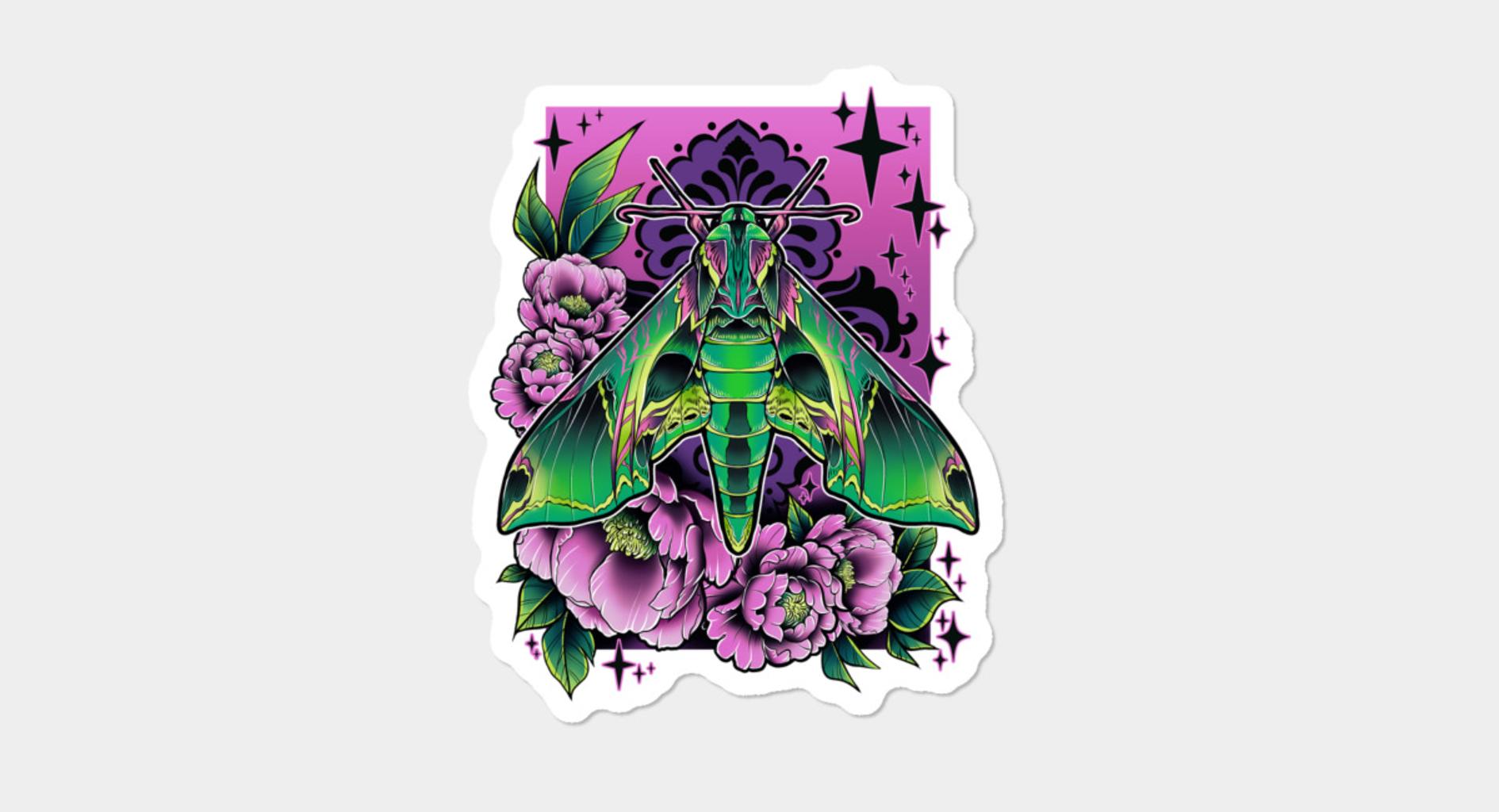 Design by Humans: Sphinx Moth Sticker