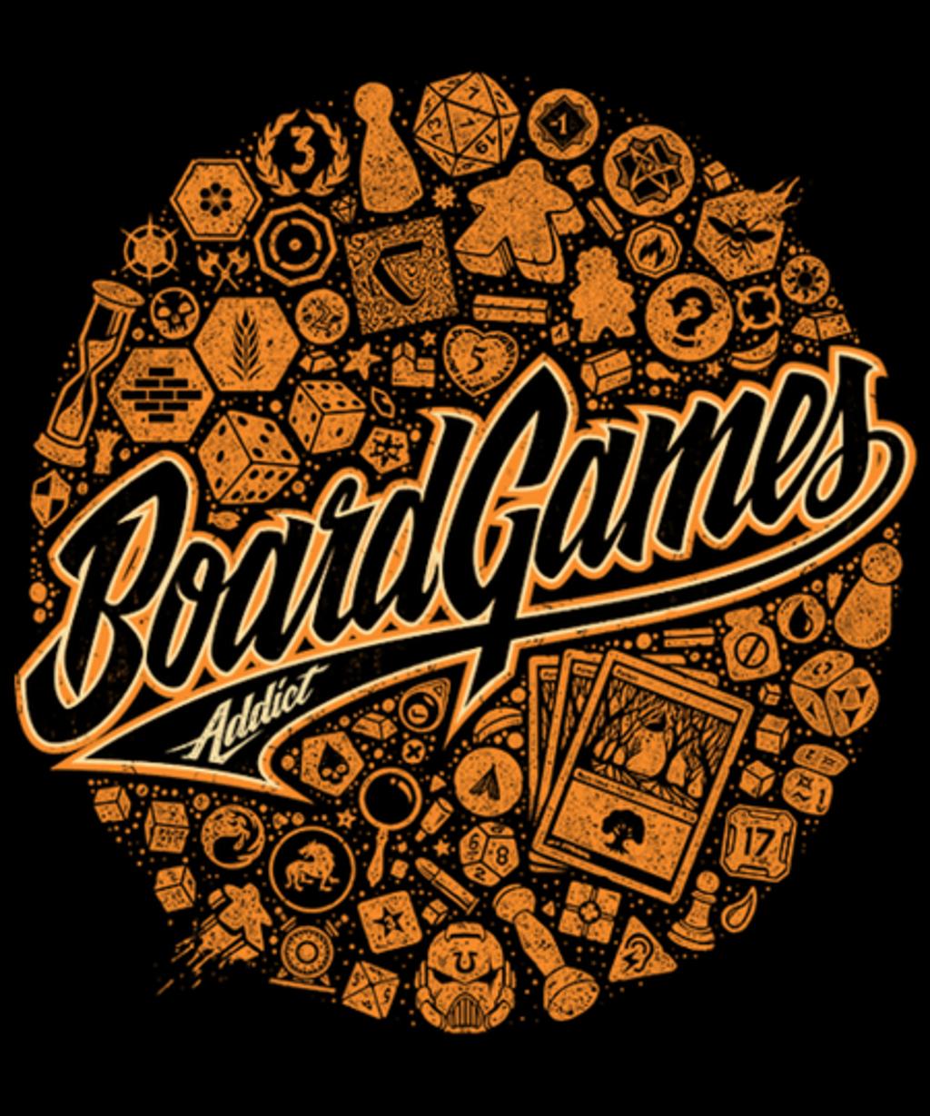 Qwertee: BoardGames Addict