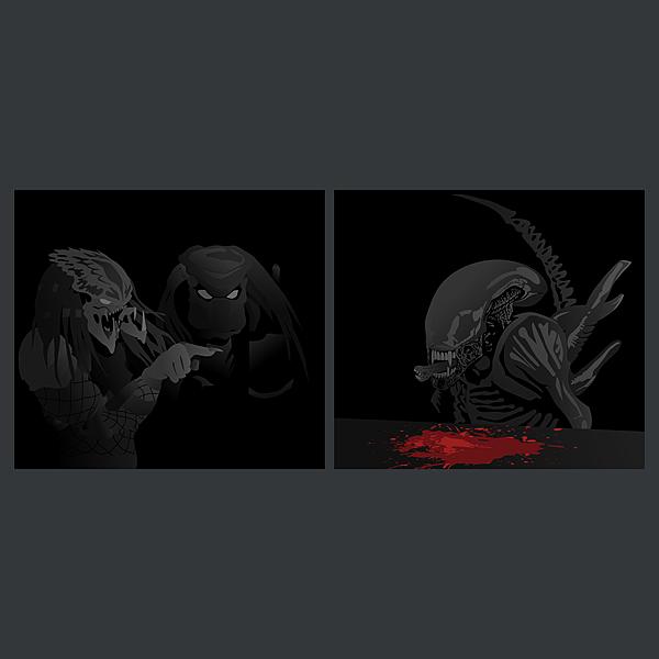 NeatoShop: Predator yelling at Alien