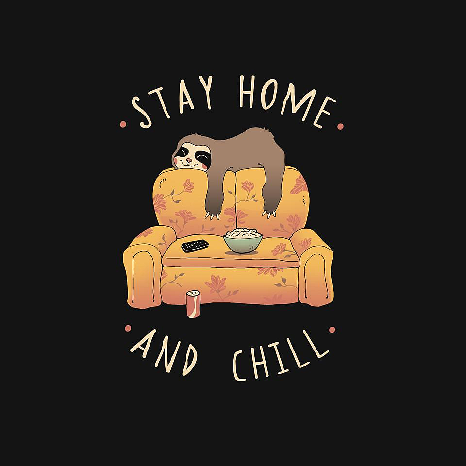 TeeFury: Stay Home And Chill