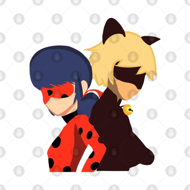 TeePublic: Ladybug and Cat Noir