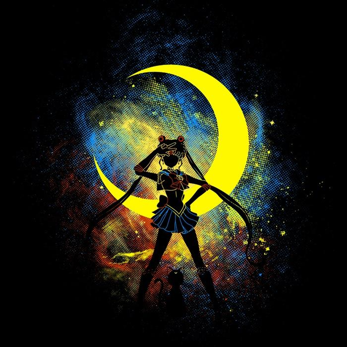 Once Upon a Tee: Moon Art