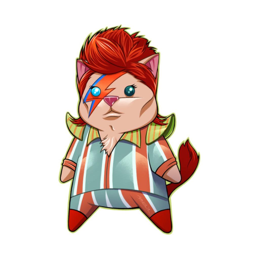 TeePublic: Bowie Kitty