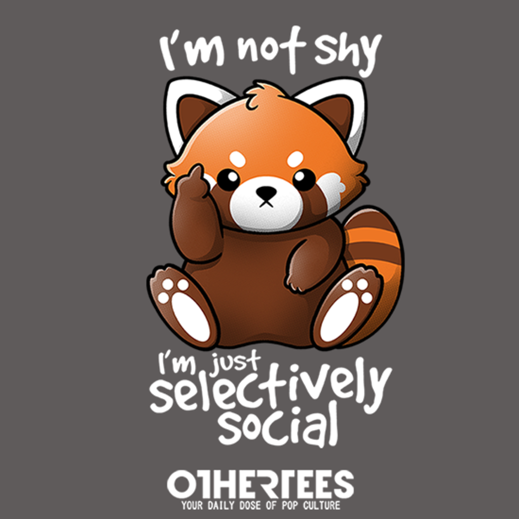 OtherTees: Shy red panda
