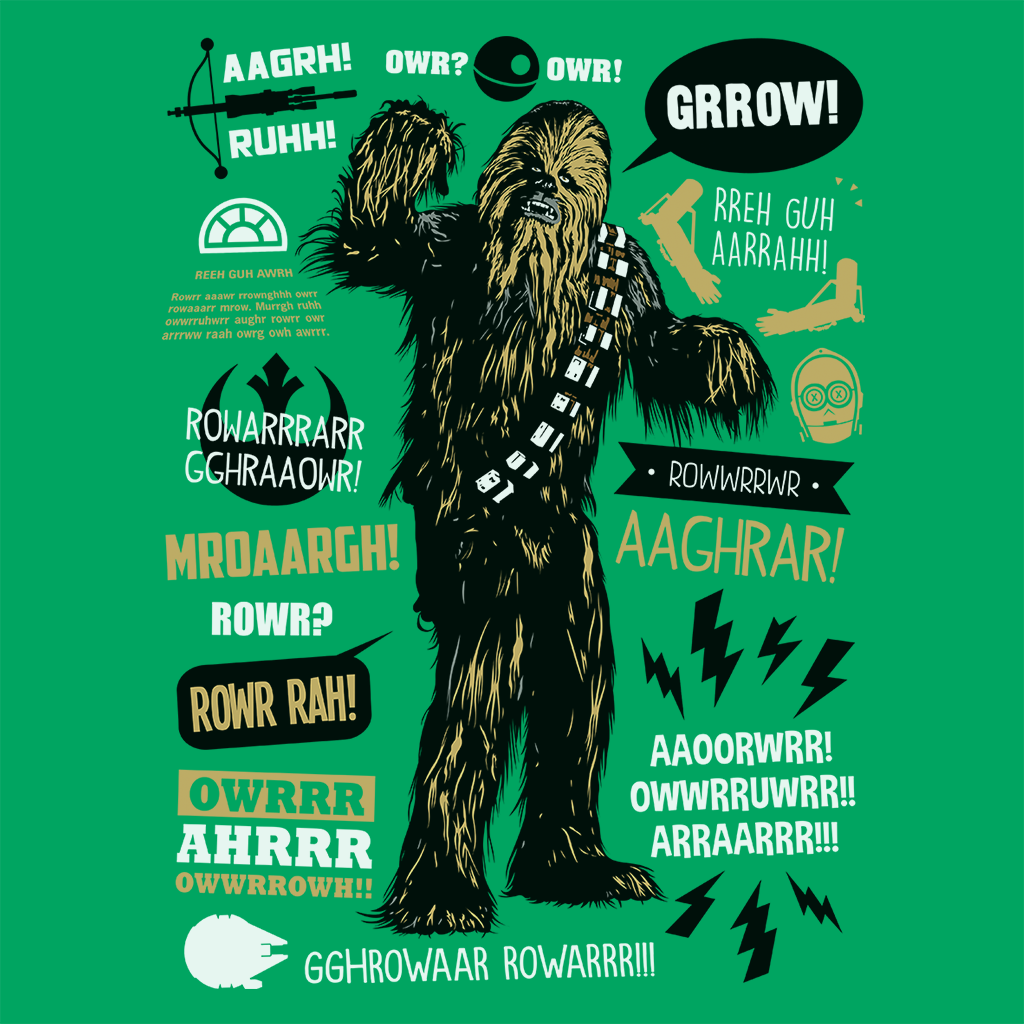 Pop-Up Tee: Wookie Famous Quotes