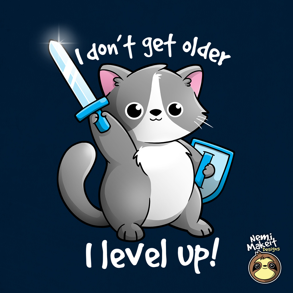 TeeTee: Level up cat
