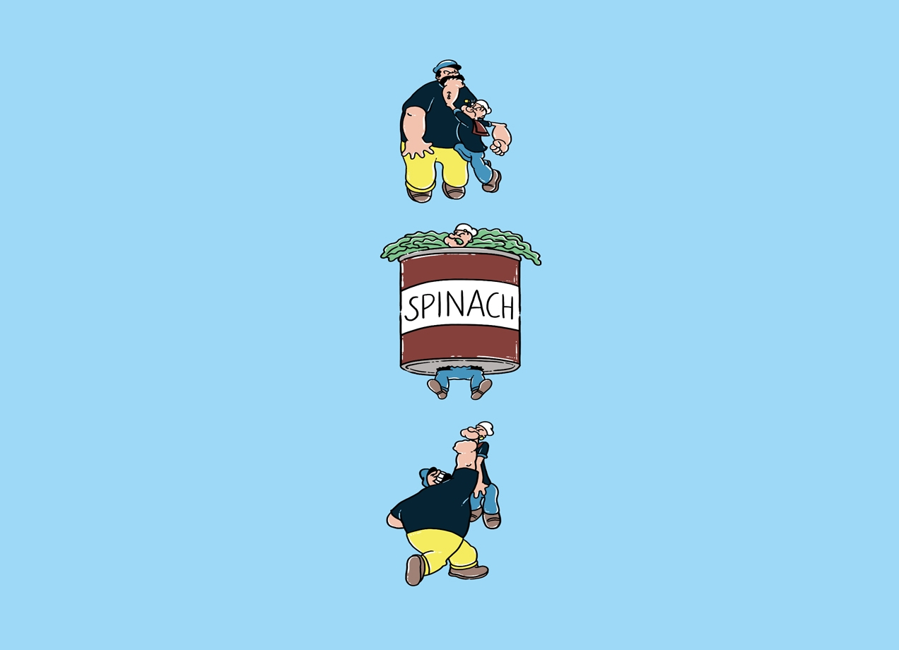 Threadless: Lose! Spinach! Win! Repeat!