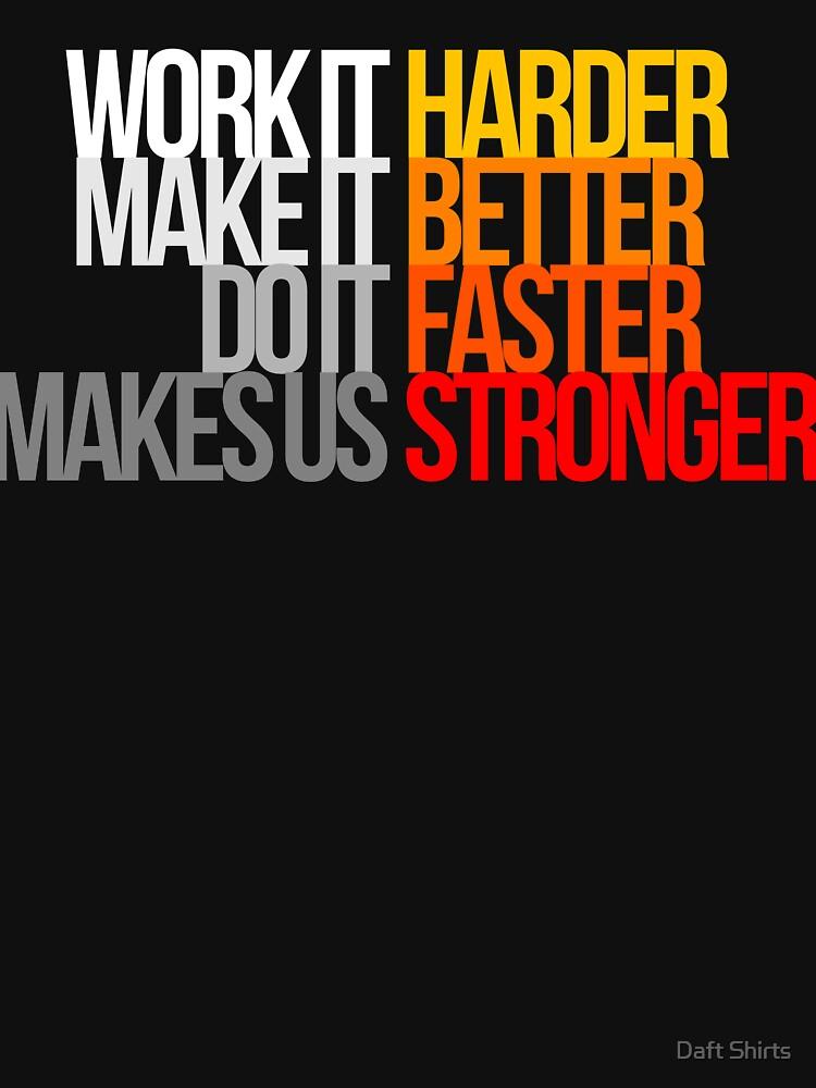 RedBubble: Harder Better Faster Stronger