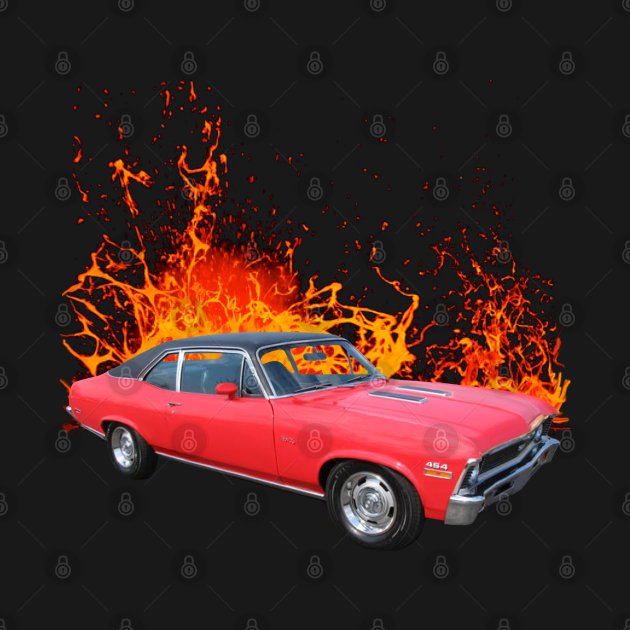 TeePublic: 1972 Chevy Nova SS in our lava series