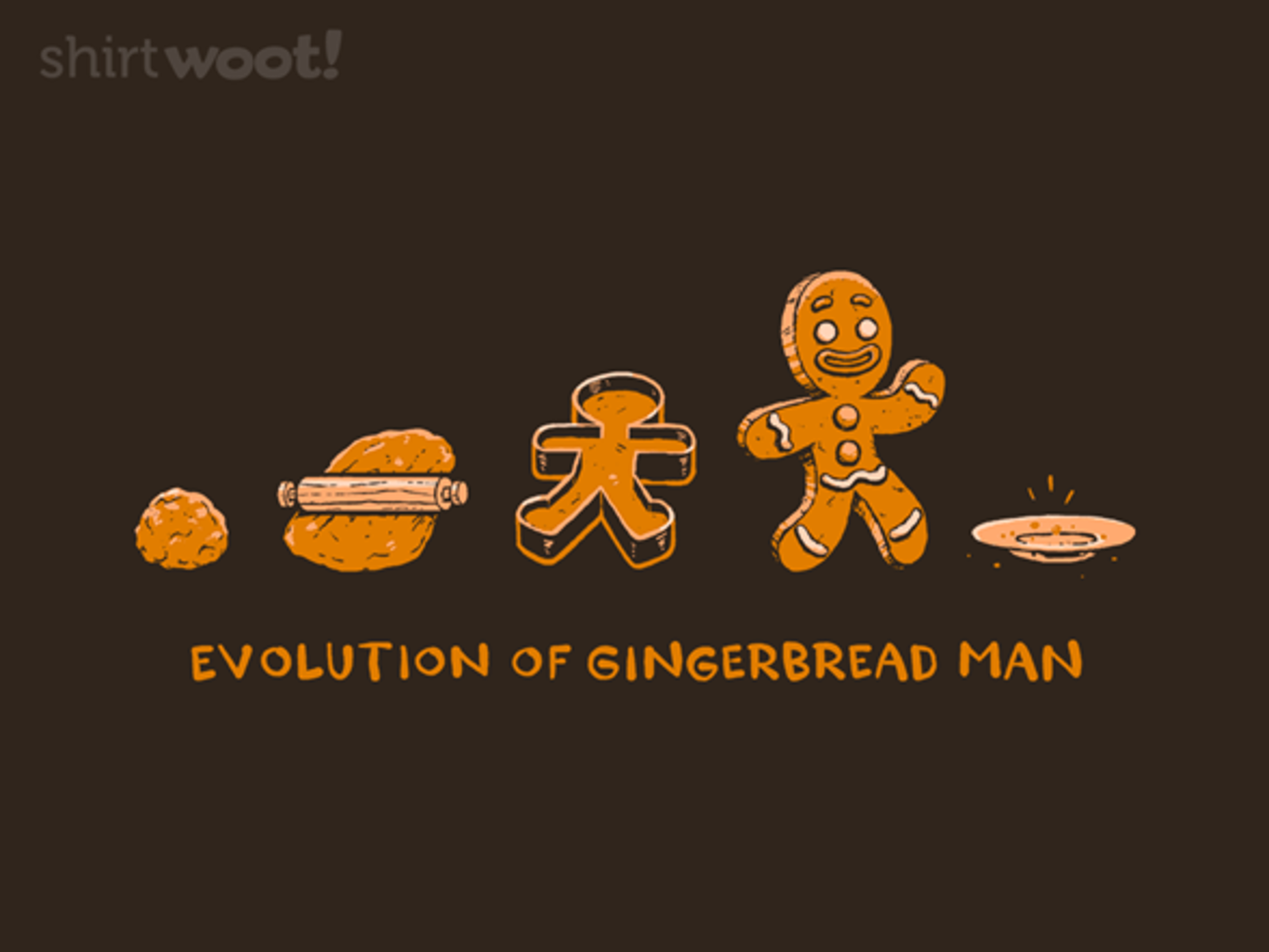 Woot!: Evolution of (Gingerbread) Man - $15.00 + Free shipping
