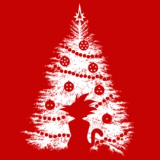 Textual Tees: DBZ Christmas Tree