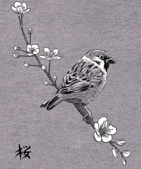 Qwertee: Sparrow Kanji