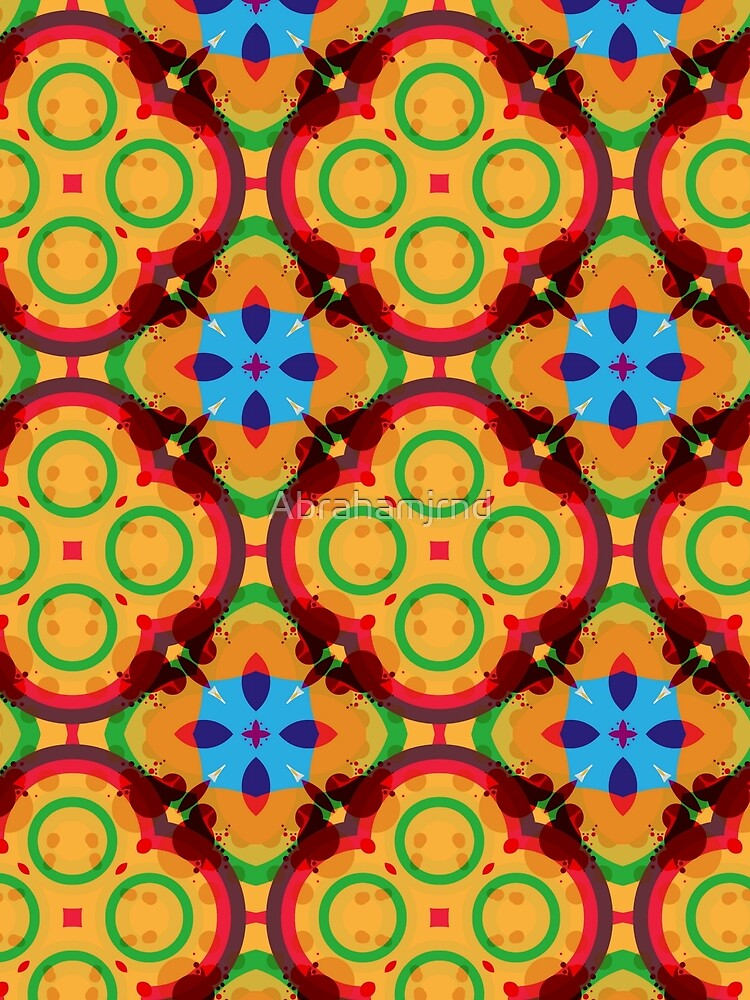 RedBubble: circle color rings seamless colorful repeat pattern