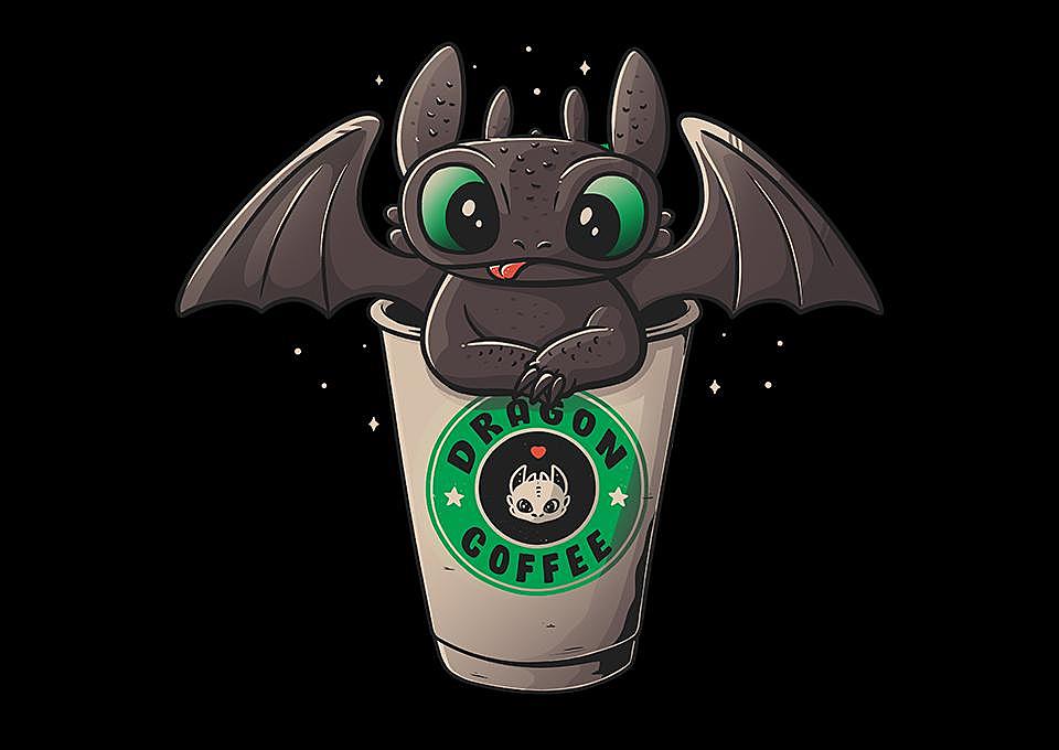 TeeFury: Dragon Coffee