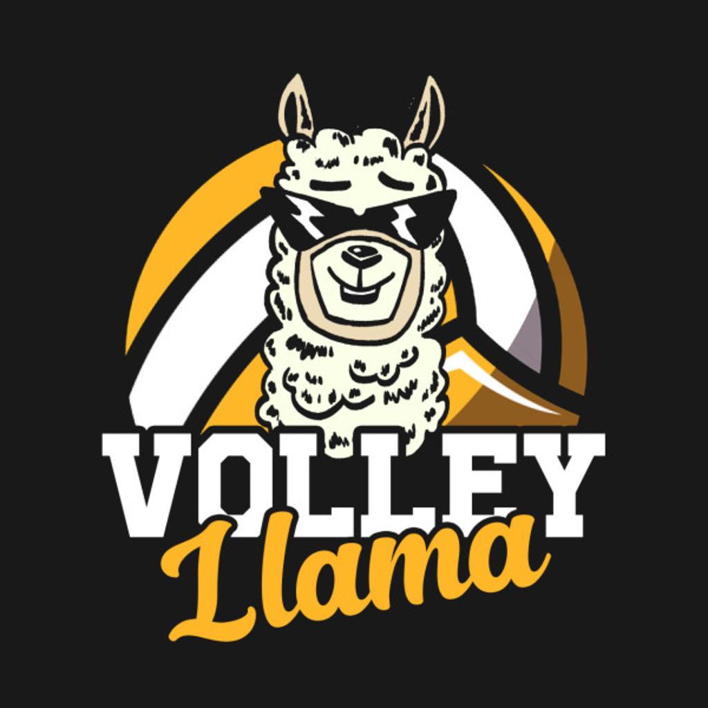 TeePublic: Volley Llama Volleyball T-Shirt